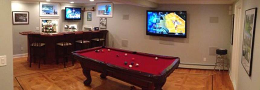Finished Basements & Game Rooms